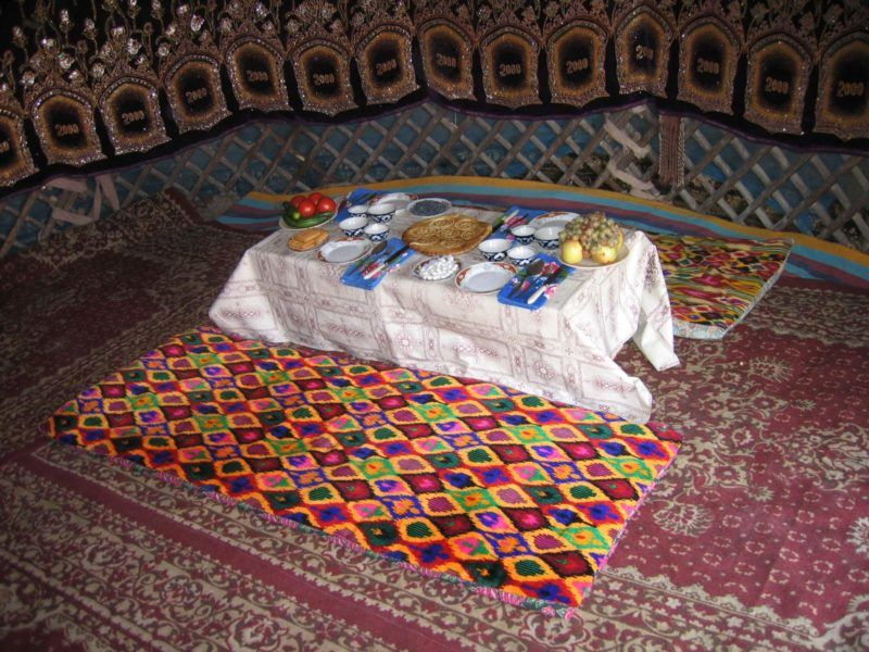 Nuit et dîner dans un camp de yourtes à Boukhara - Ouzbékistan | Au Tigre Vanillé