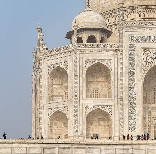 Mausolée du Taj Mahal à Agra en Inde du Nord   Au Tigre Vanillé