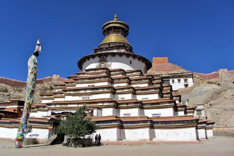 Stupa au monastère de Kumbum - Tibet | Au Tigre Vanillé