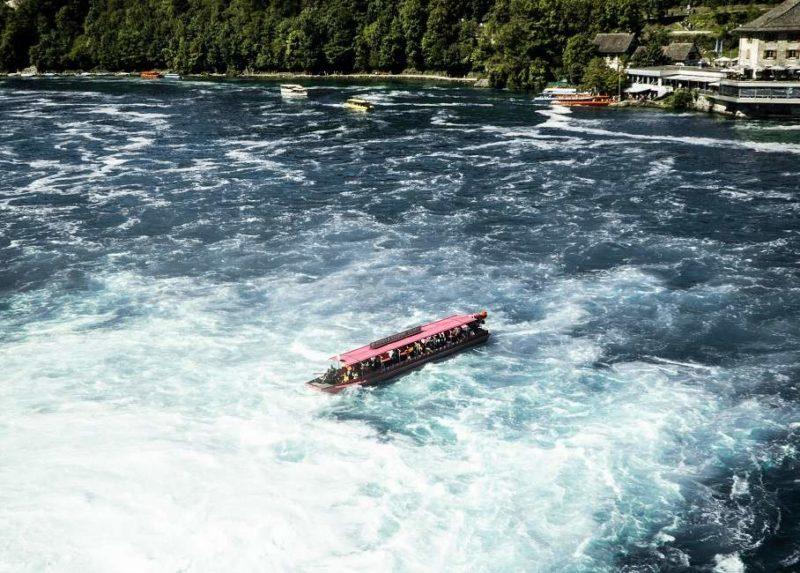 Croisière dans les chutes du Rhin à Schaffouse - Suisse | Au Tigre Vanillé