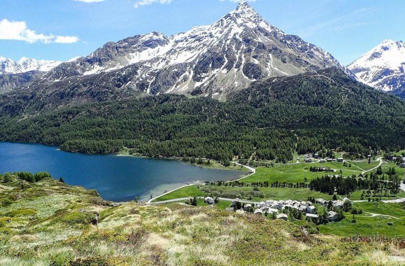 Vue sur le lac de Sils en Engadine - Suisse | Au Tigre Vanillé