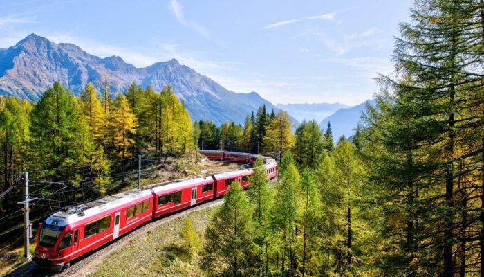 Train panoramique du Bernina express - Suisse | Au Tigre Vanillé
